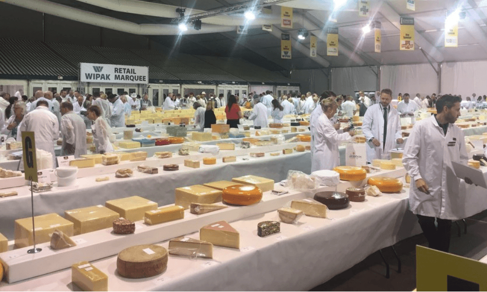 Image from international cheese show.