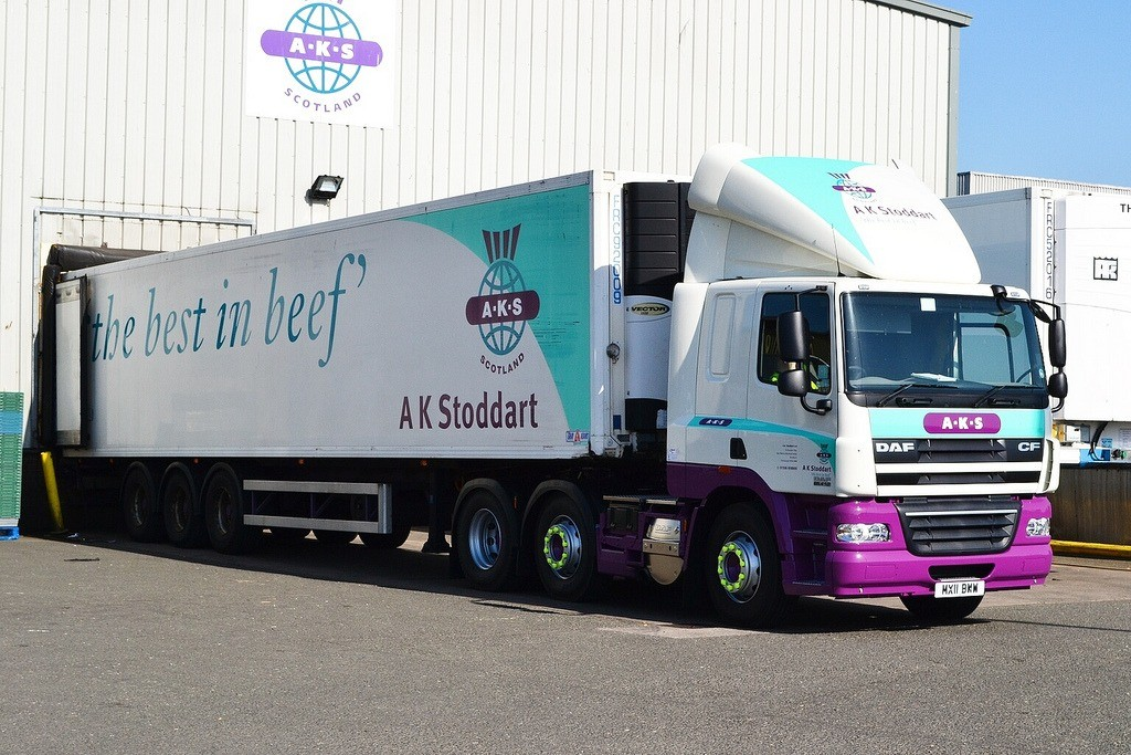 Image of lorry AK Stoddart delivery fleet