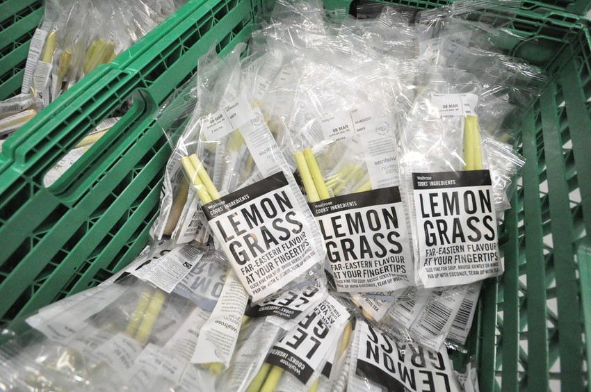 Boxes of packaged Lemongrass at R&G Herbs