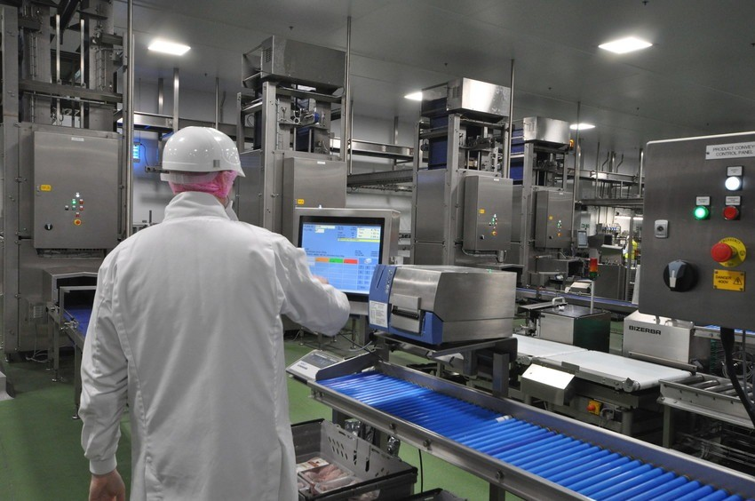 Image from faccenda foods example of poultry processing software in action.