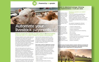 Livestock payments and adjustments - datasheet