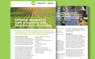 Software for fresh produce processing - datasheet
